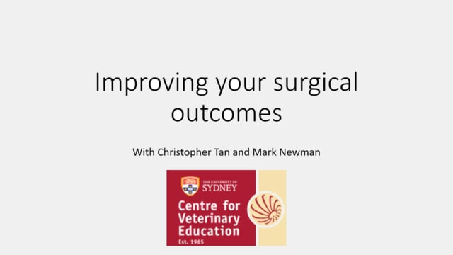 Improving your Surgical Outcomes