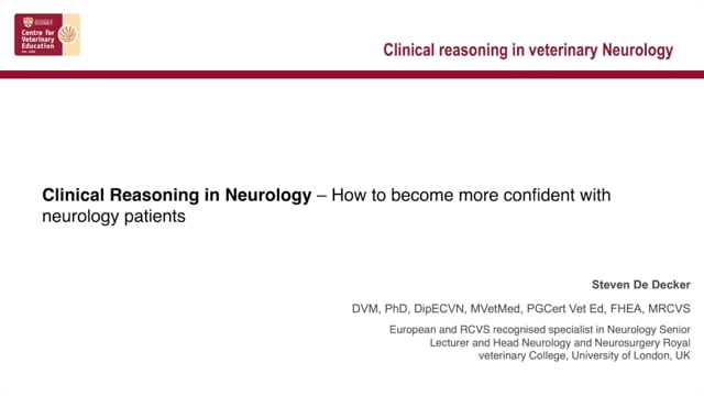Clinical Reasoning in Veterinary Neurology