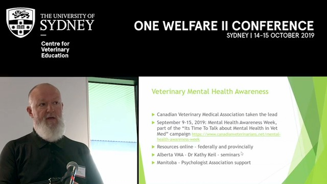 One Welfare recommendations and guidance in Canada 2015-2019