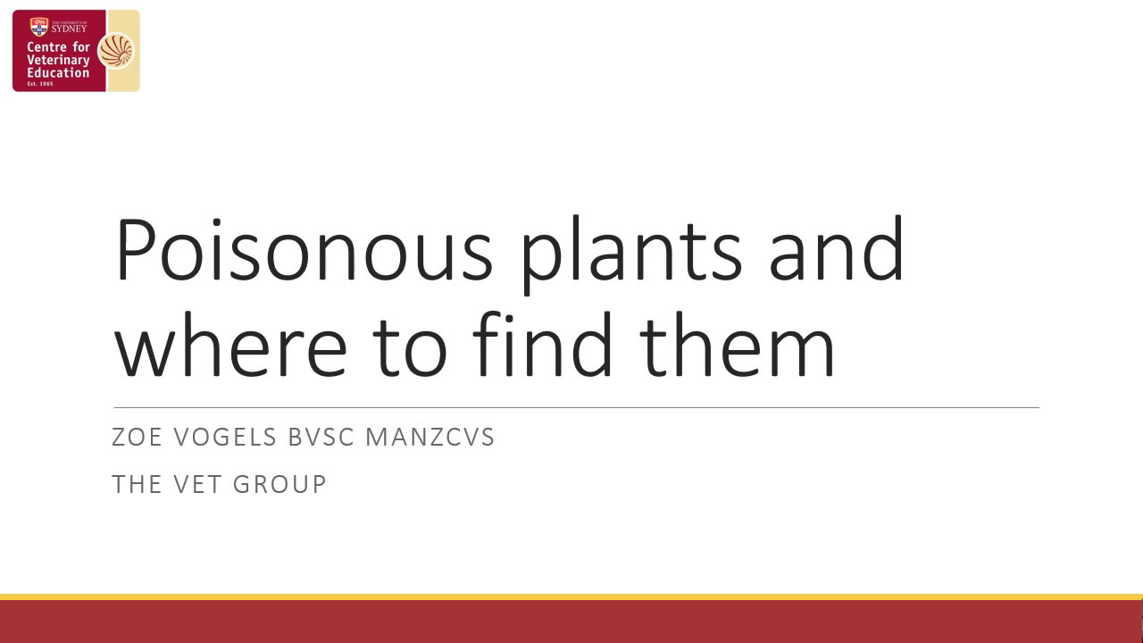 Poisonous Plants and Where to Find Them WebinarPLUS
